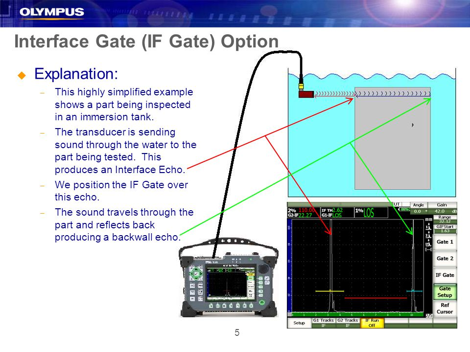 6 Interface Gate (IF Gate) Option u Explanation: – We are not interested in the water path for flaw detection.