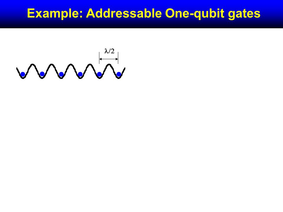 Example: Addressable One-qubit gates