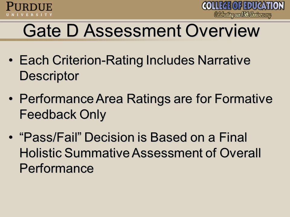 Everythings Related to Everything Else Gates C & D Portfolio Assessments Mapping Guide