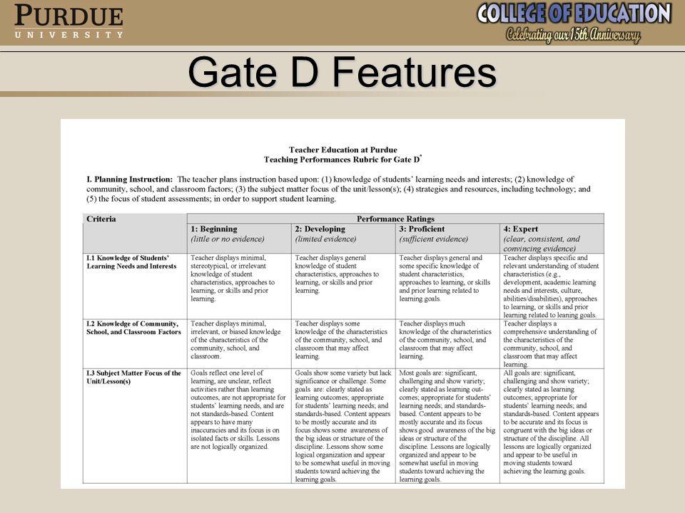 Four Teaching Performances Areas I.Planning InstructionI.