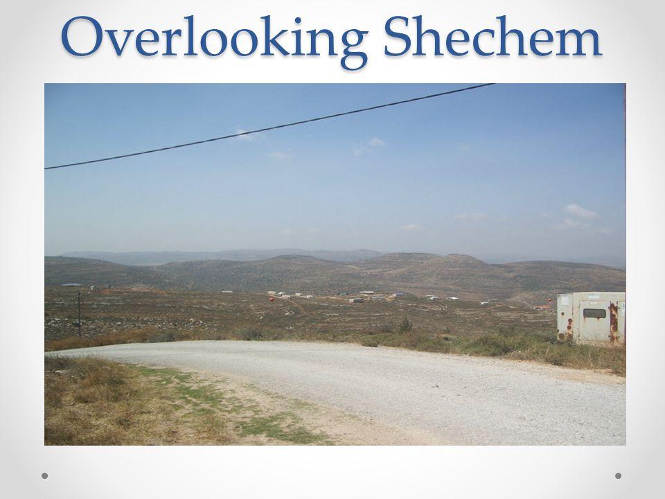 Overlooking Shechem