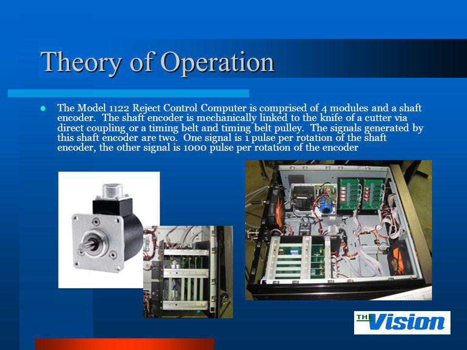 Theory of Operation To set the encoder the 1 pulse per revolution must occur.