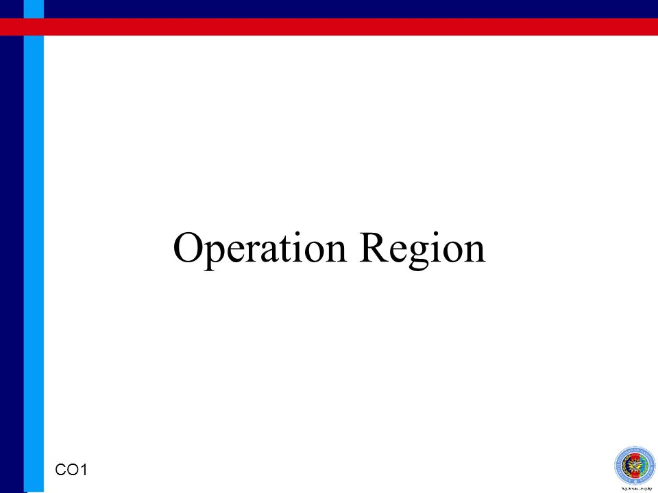 Operation Region CO1