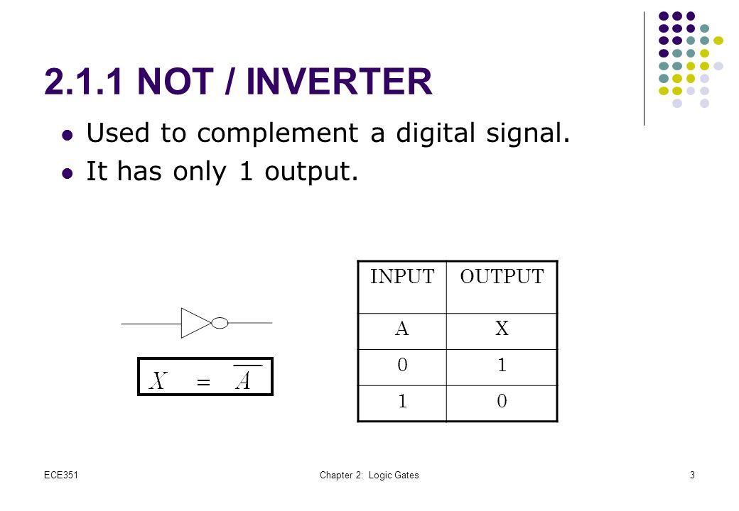 Common TTL DIP circuit packages ECE351Chapter 2: Logic Gates14