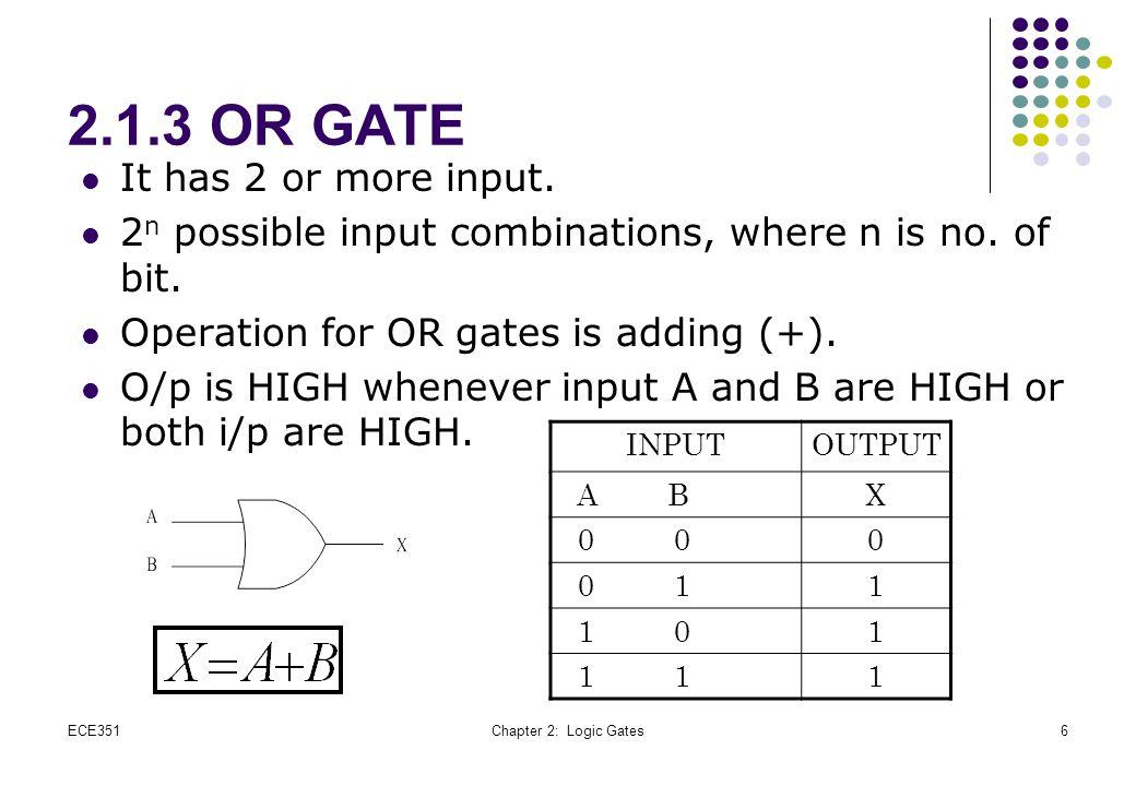 ECE351Chapter 2: Logic Gates17 Universality of NOR