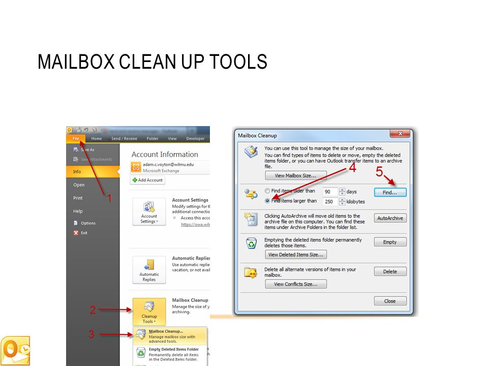 MAILBOX CLEAN UP TOOLS