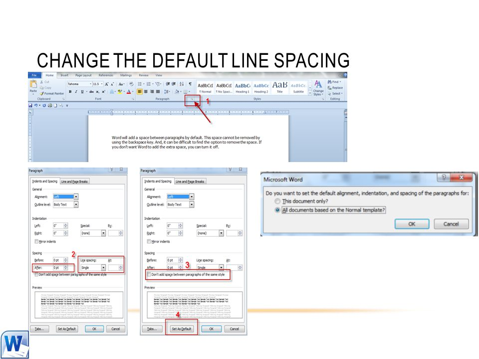CHANGE THE DEFAULT LINE SPACING