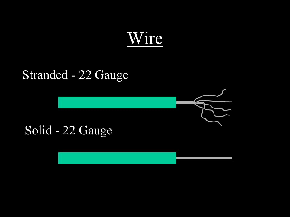 Wire Stranded - 22 Gauge Solid - 22 Gauge