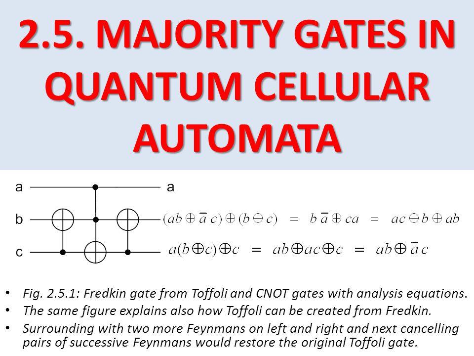2.5.MAJORITY GATES IN QUANTUM CELLULAR AUTOMATA 2.5.