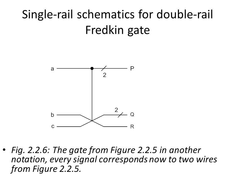 Single-rail schematics for double-rail Fredkin gate Fig.