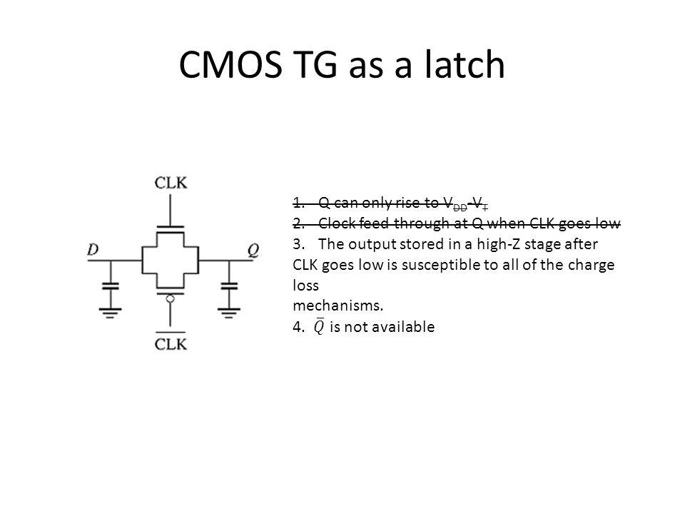 CMOS TG as a latch