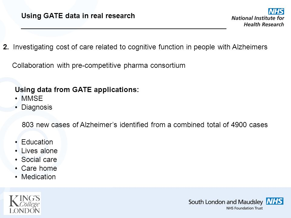 Using GATE data in real research 2.