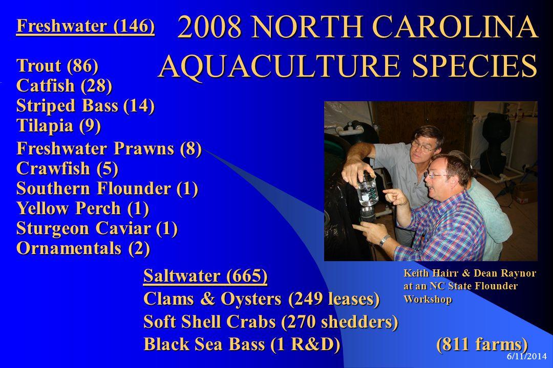 6/11/2014 Aquaculture Education Eastern NC Community Colleges Mr.