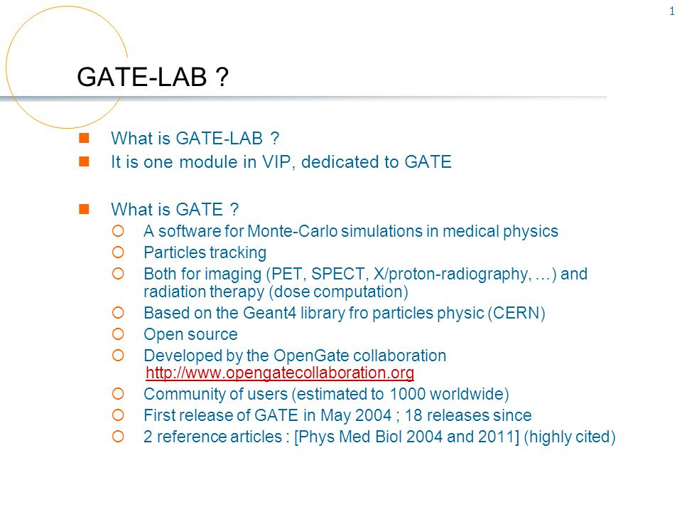 2 One example GATE simulation of proton cancer treatment Goal: study the dose distribution inside patient data Protontherapy treatment room CT patient data