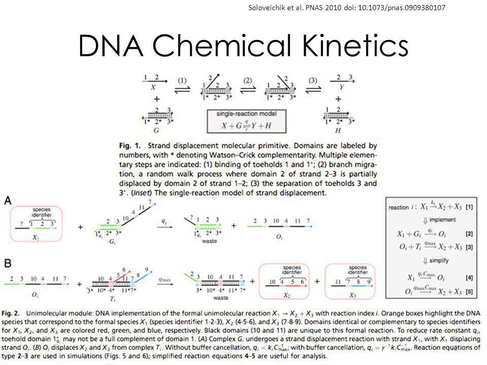 DNA Chemical Kinetics 42 Soloveichik et al. PNAS 2010 doi: 10.1073/pnas.0909380107