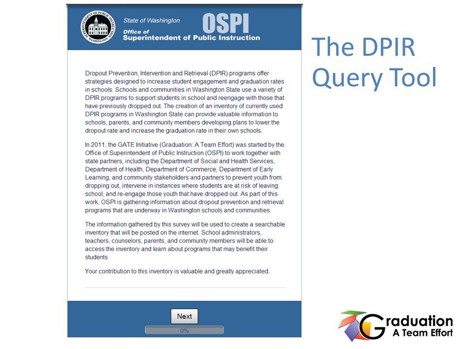 The DPIR Query Tool