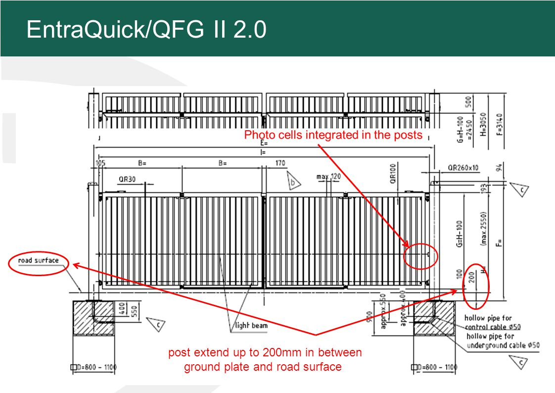 MFZ KONZEPT - Zielsetzung 11 EntraQuick/QFG II 2.0 post extend up to 200mm in between ground plate and road surface