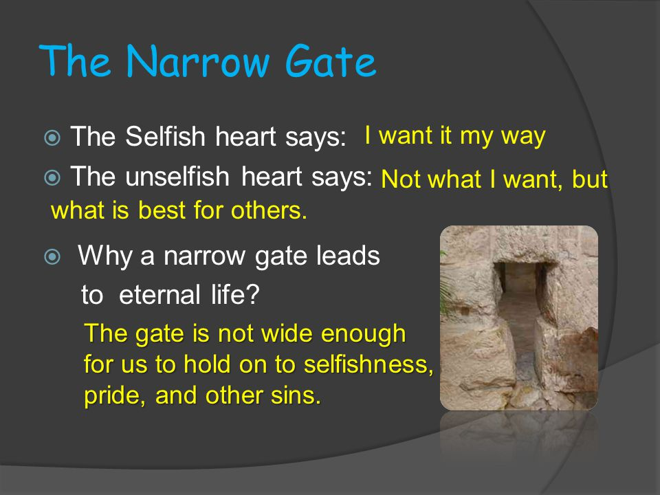 Another Gate If God is love, why will he not save everyone.