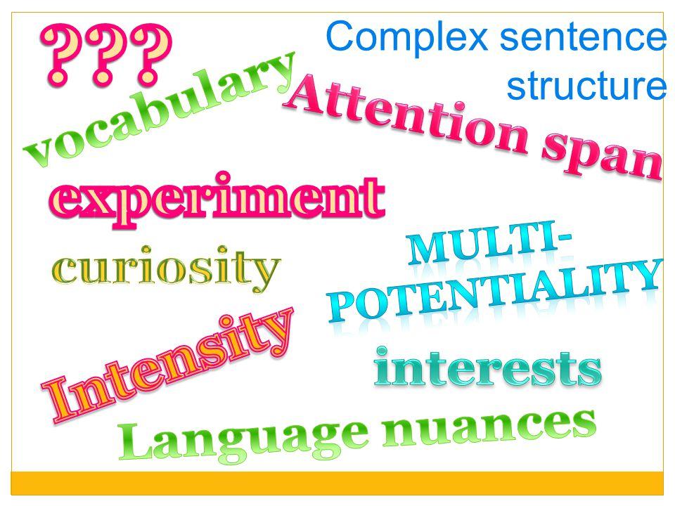 Complex sentence structure