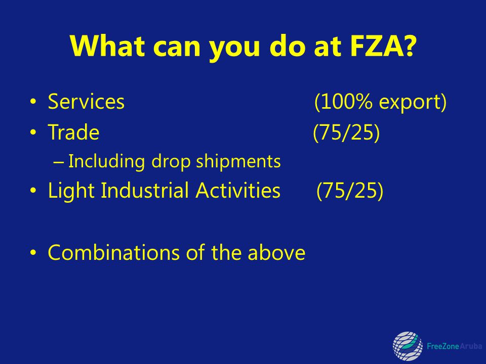What can you do at FZA.