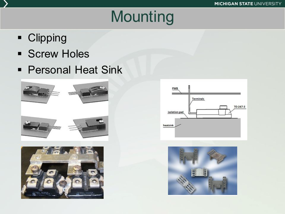 Mounting Clipping Screw Holes Personal Heat Sink