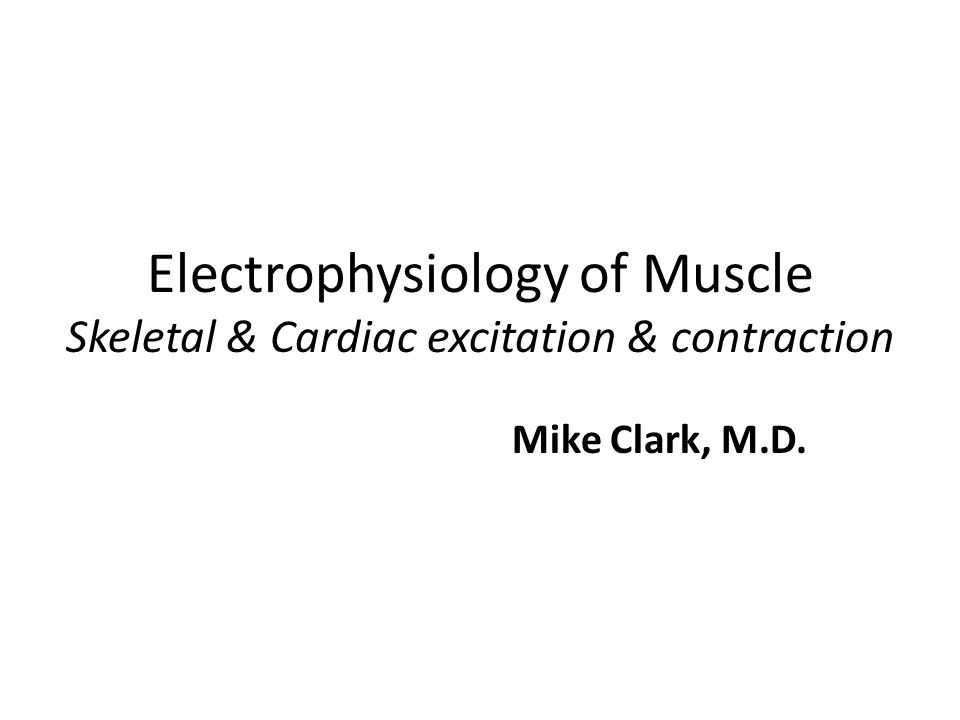 NOTE Prior to reading this PowerPoint presentation – students may want to review my PowerPoint presentation General Electrophysiology – which explains the Resting Membrane Potential and Action Potentials in general.