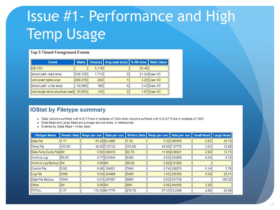 Issue #1- Performance and High Temp Usage 17