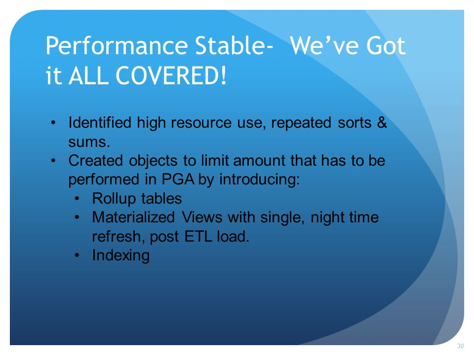 Performance Stable- Weve Got it ALL COVERED.