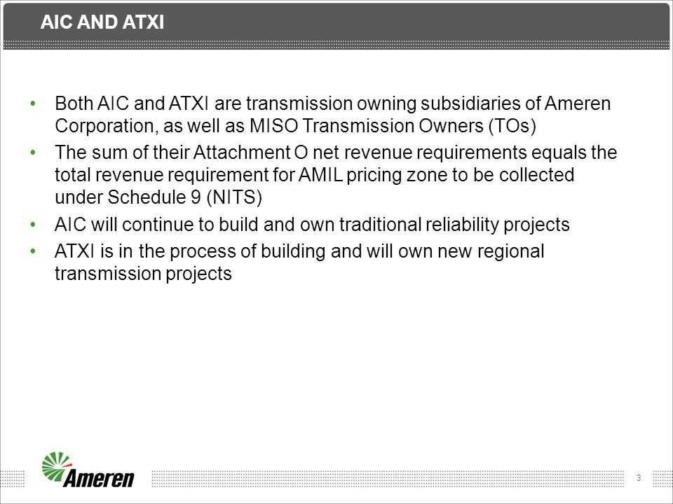 14 ATXI Revenue Requirement Projected 2012 vs Projected 2013