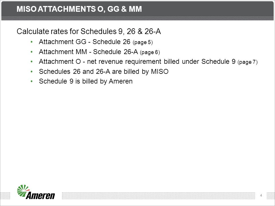 5 MISO ATTACHMENT GG Cost Recovery for certain Network Upgrades Eligible projects Baseline Reliability Market Efficiency Generator Interconnections Cost shared based upon project type MISO-wide based on load Subregional based on LODF (Line Outage Distribution Factor) AIC has three Attachment GG projects completed ATXI has no Attachment GG projects