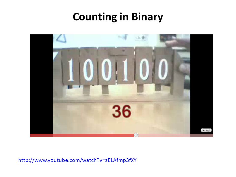 Counting in Binary   v=zELAfmp3fXY