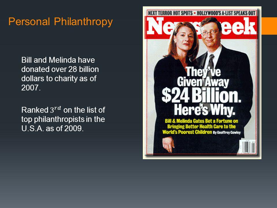 Personal Philanthropy