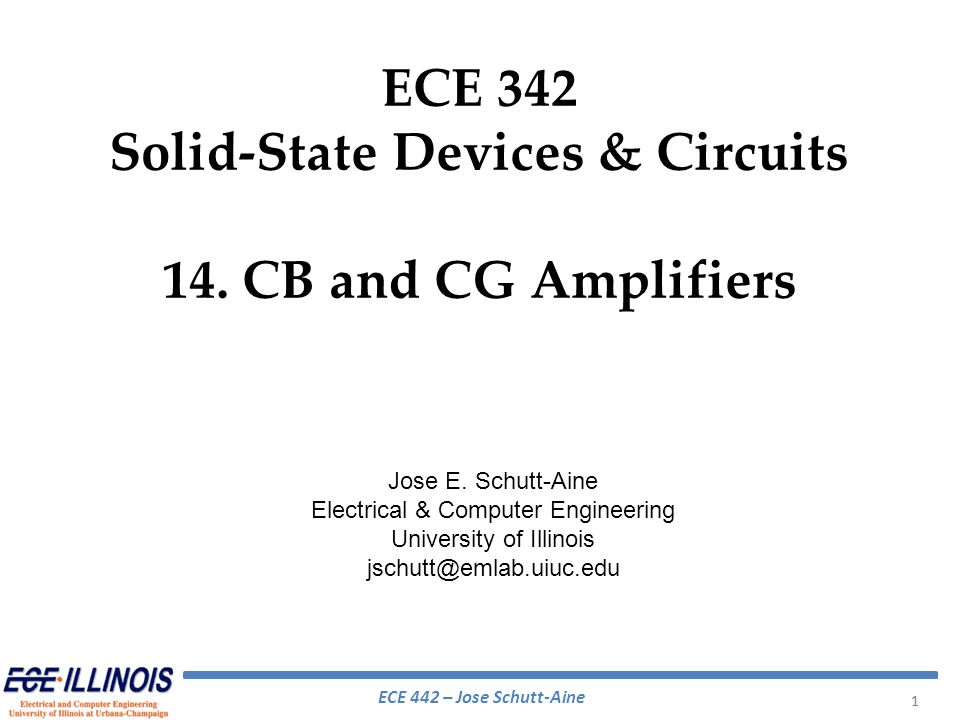 Common Gate Amplifier Substrate is not connected to the source must account for body effect Drain signal current becomes And since Body effect is fully accounted for by using