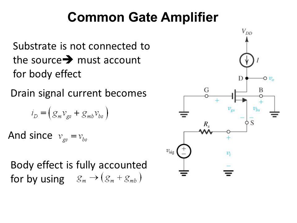 ECE 442 – Jose Schutt-Aine 3 Common Gate Amplifier
