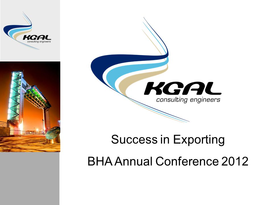 Success in Exporting BHA Annual Conference 2012