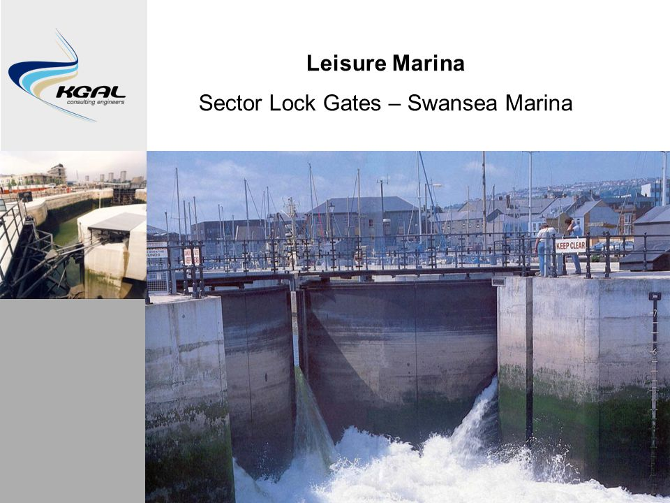Leisure Marina Sector Lock Gates – Swansea Marina