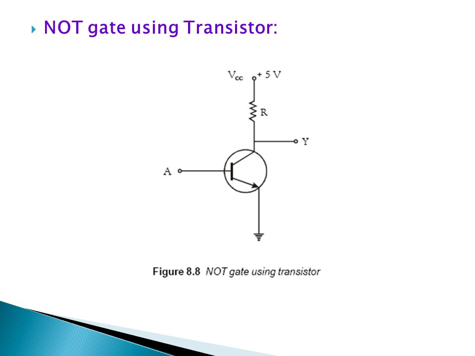 NOT gate using Transistor:
