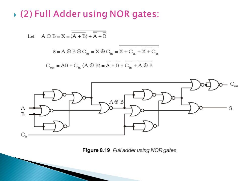 (2) Full Adder using NOR gates:
