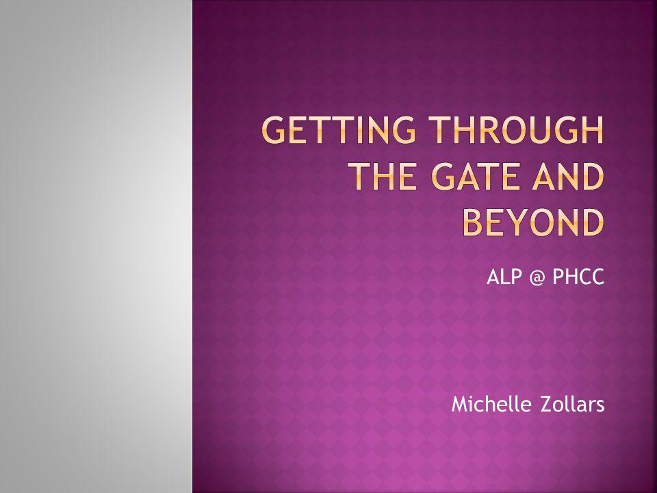 ALP @ PHCC Michelle Zollars