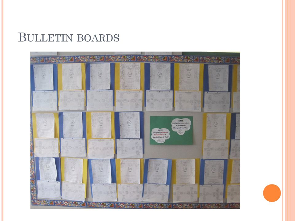 B ULLETIN BOARDS