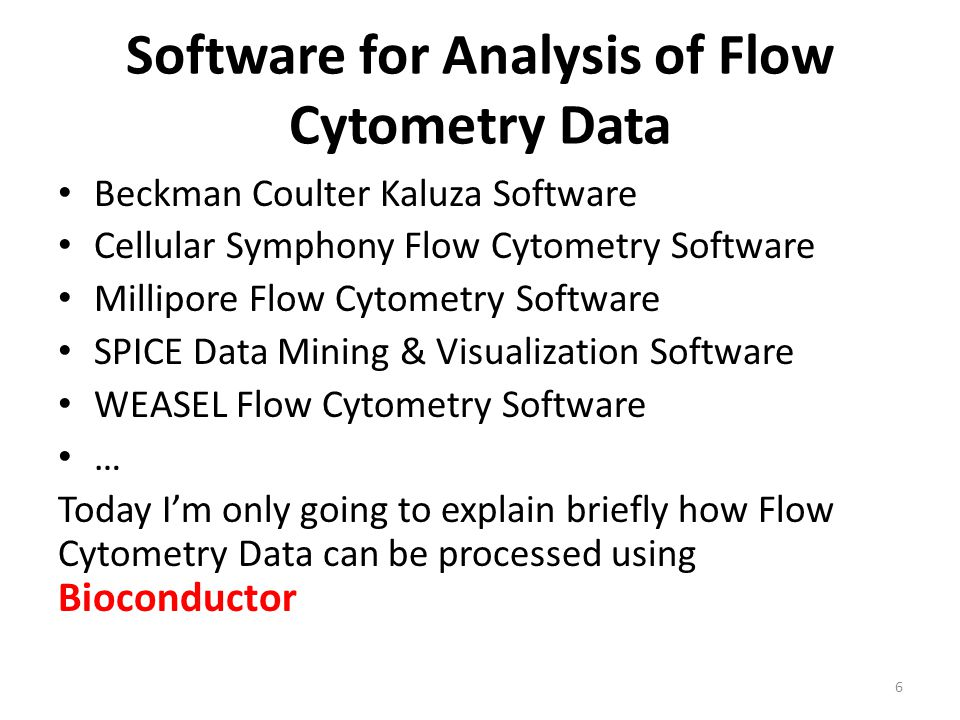 Software for Analysis of Flow Cytometry Data Beckman Coulter Kaluza Software Cellular Symphony Flow Cytometry Software Millipore Flow Cytometry Softwa