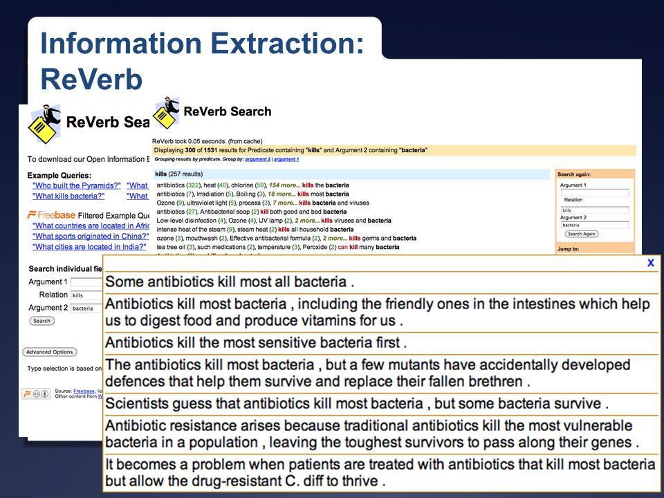 University of Illinois Information Extraction: ReVerb