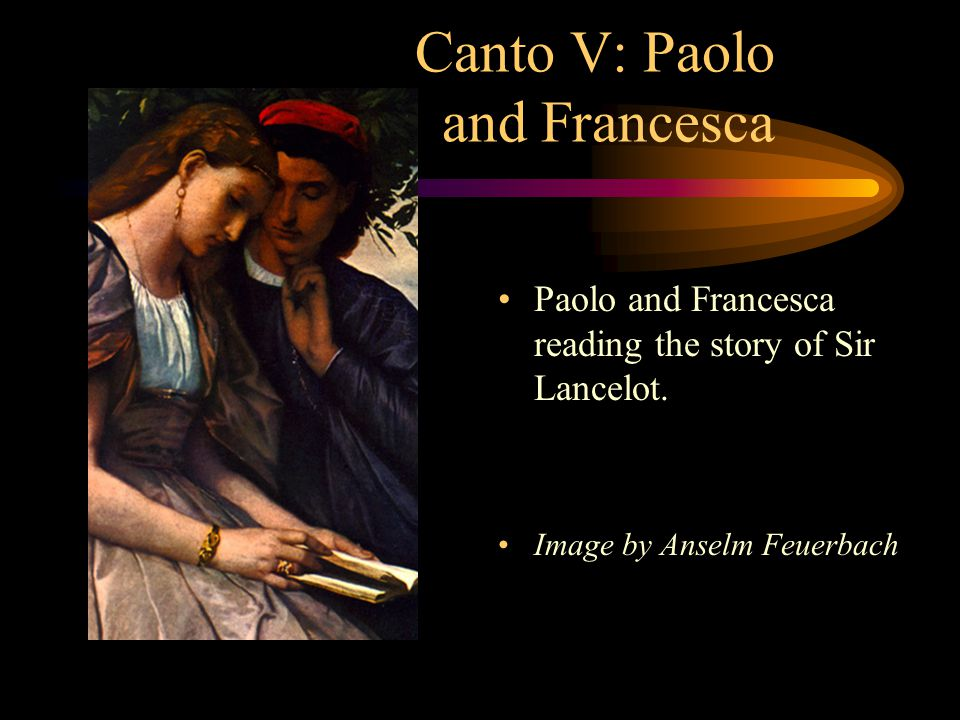 Canto V: Paolo and Francesca Overcome by passion, the book falls to the floor and they read no more.