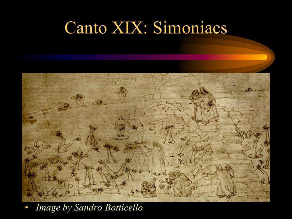 Canto XIX: Simoniacs Image by Sandro Botticello