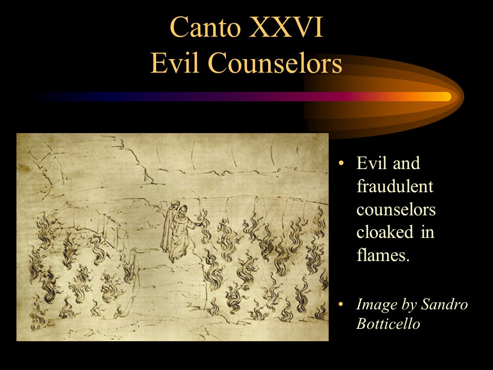 Canto XXVIII Sowers of Scandal Sowers of discord and scandal perpetually circling while demons wound them.
