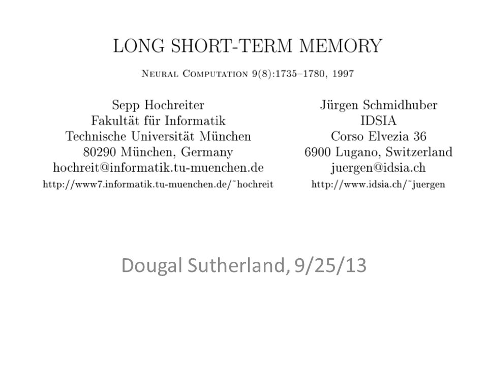 Dougal Sutherland, 9/25/13