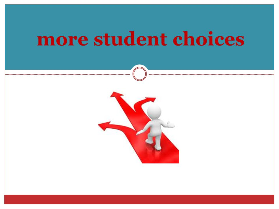 more student choices