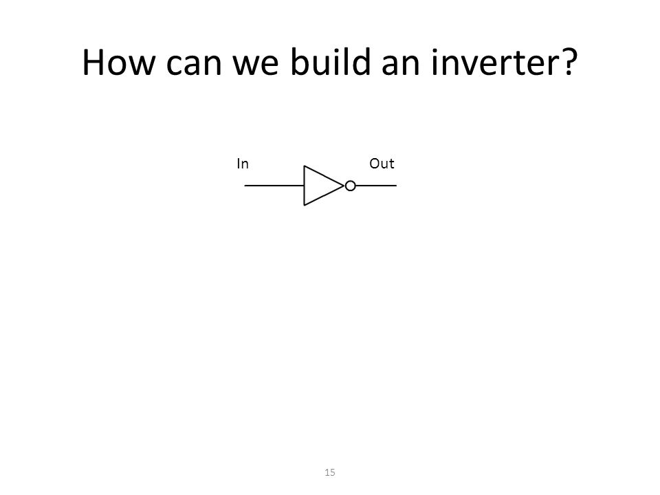 How can we build an inverter 15 In Out