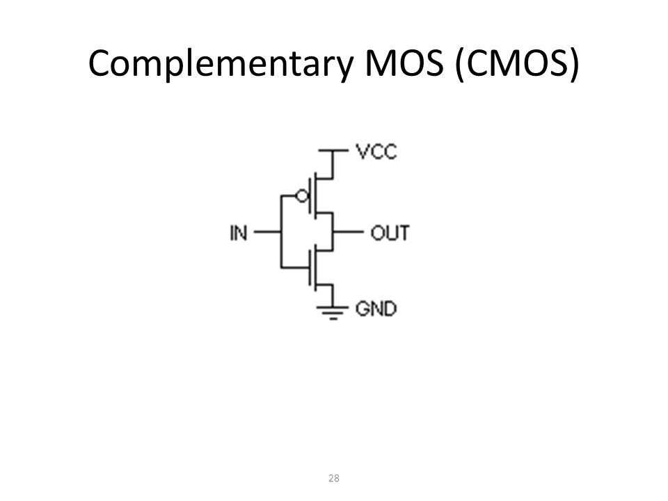 Complementary MOS (CMOS) 28