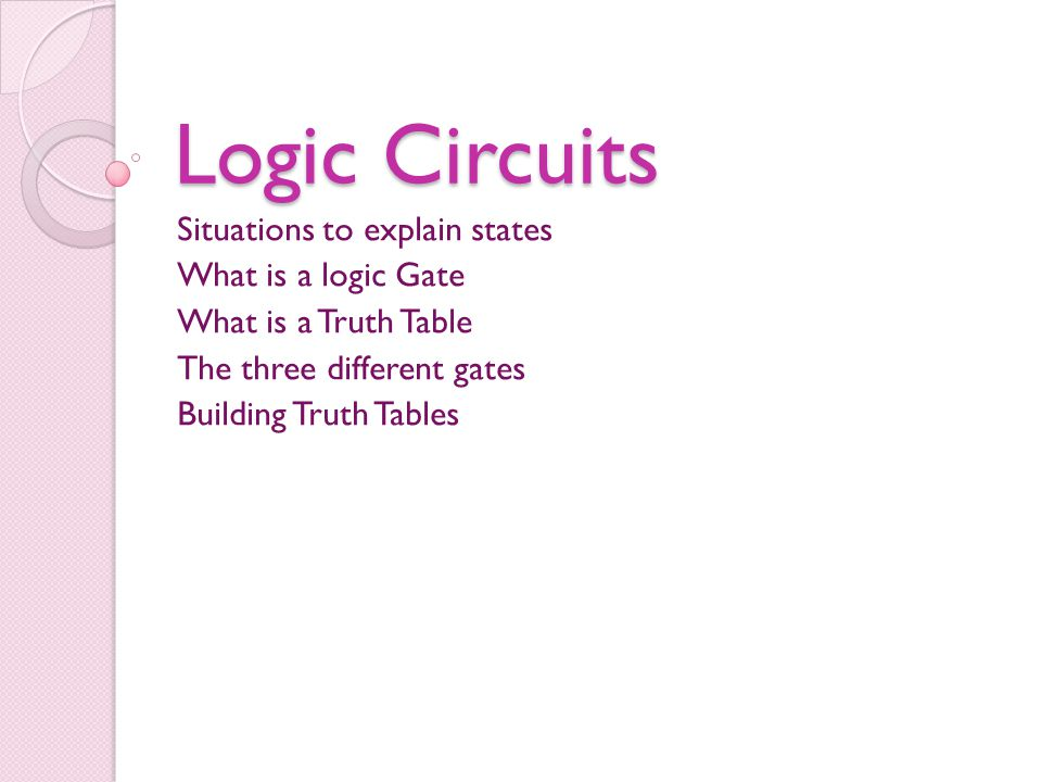 Outputs The AND gate only gives an output of 1 if both inputs are 1 So if an inputs 1 and the other input is 0 the output would be 0 but if both inputs are 1 the output would be 1